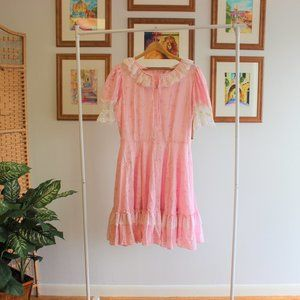 Vintage Floral Puff Sleeve Dress XL